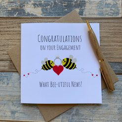 What bee-utiful news engagement card