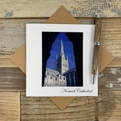 Norwich Cathedral Painting Effect Card