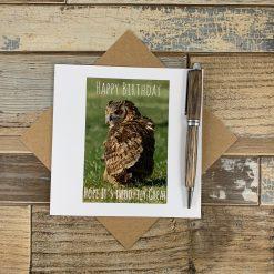 Owl Themed Birthday Card