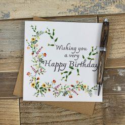 Autumnal Flowers Birthday Card