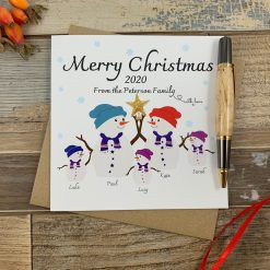 Snowman Personalised Family Christmas Card