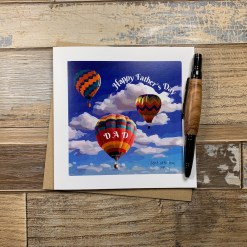 Air Balloons Design Fathers Day Card