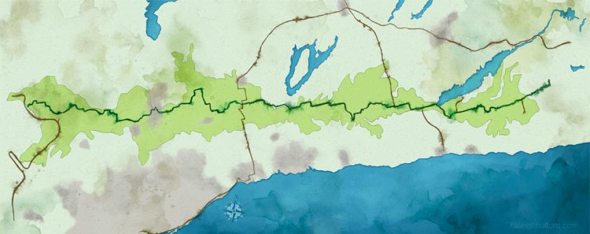 Oak Ridges Moraine map (no text).