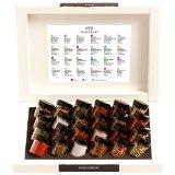 Hallingers Adventskalender Gewürzkalender Gewürze ADVENT 24, white Set/Mix 24x Miniglas in Deluxe-Box, 1er Pack (1 x 500 g)