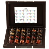 Hallingers Adventskalender Teekalender Tee Advent 24, black Set/Mix 24x Miniglas in Deluxe-Box, 1er Pack (1 x 240 g)