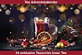 Tee Adventskalender mit 24 verschiedenen Sorten losen Tee 24 mal Teegenuss