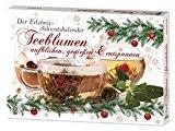 Teeblumen Adventskalender XXL mit 24 unterschiedlichen Teerosen und Teeblüten zum aufblühen, genießen & entspannen! EDITION 2016 - Die ideale Geschenkidee oder einfach als Probier-Set