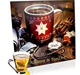 OASIS Teebeutel Adventskalender für 24 besinnliche Momente - hervorragende ausgewählte Tee-Sorten für den Advent