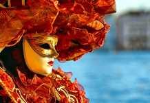 маска на лицо женщины