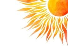 grafika przedstawiająca słońce
