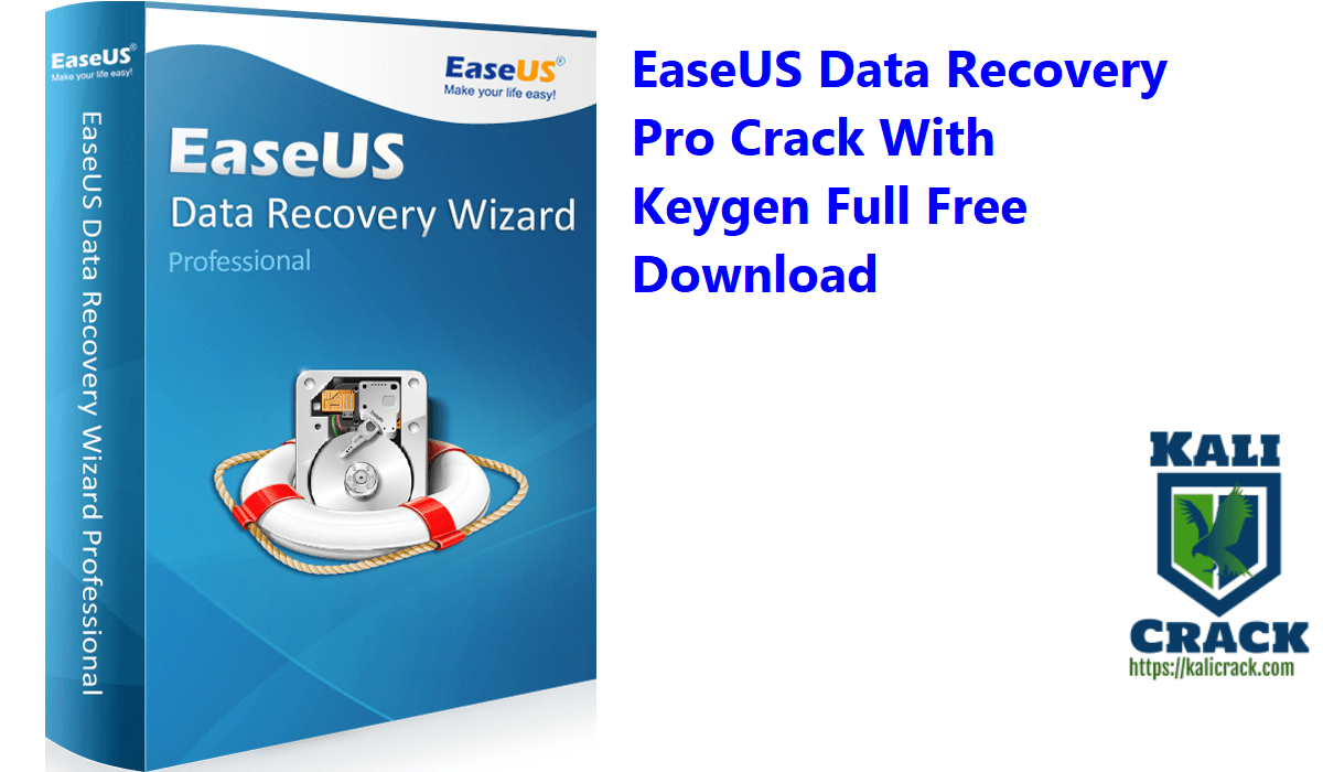 EaseUS Data Recovery Pro Crack With Keygen Full Free Download