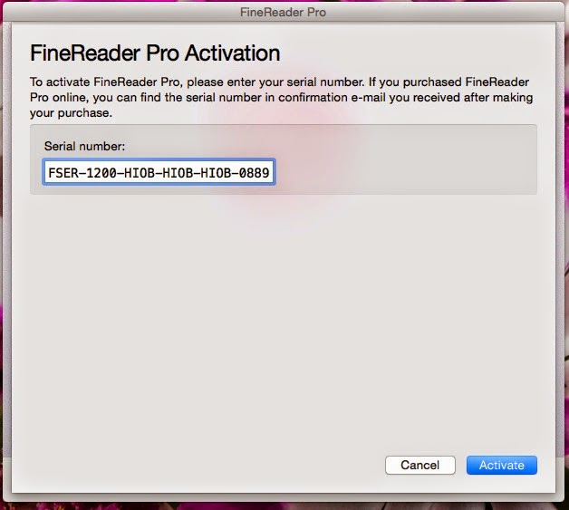 ABBYY FineReader Activation Key