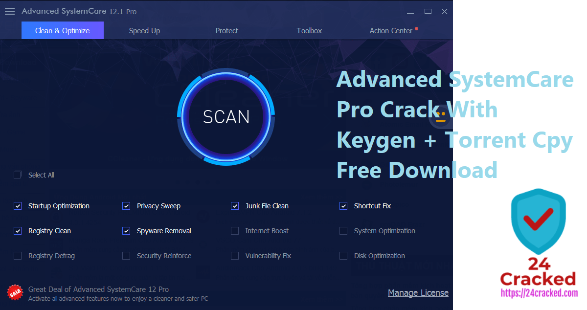 Advanced SystemCare Pro Crack With Keygen + Torrent Cpy Free Download