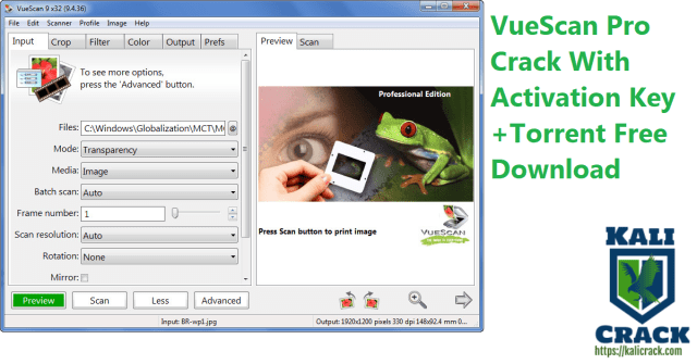 VueScan Pro Crack With Activation Key +Torrent Free Download
