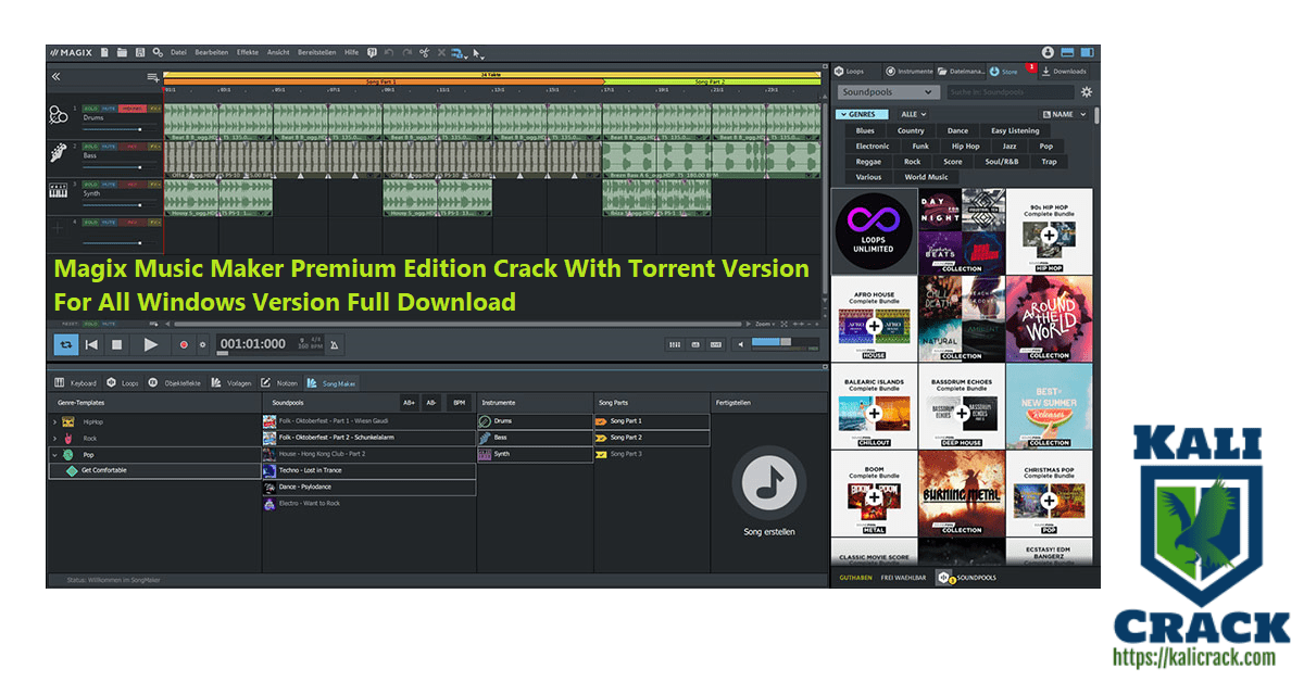 Magix Music Maker Premium Edition Crack With Torrent Version For All Windows Version Full Download