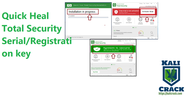Quick Heal Total Security Serial-Registration key