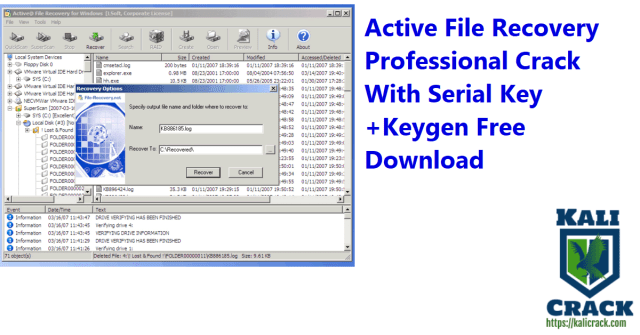 Active File Recovery Professional Crack With Serial Key +Keygen Free Download