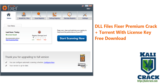 DLL Files Fixer Premium Crack + Torrent With License Key Free Download