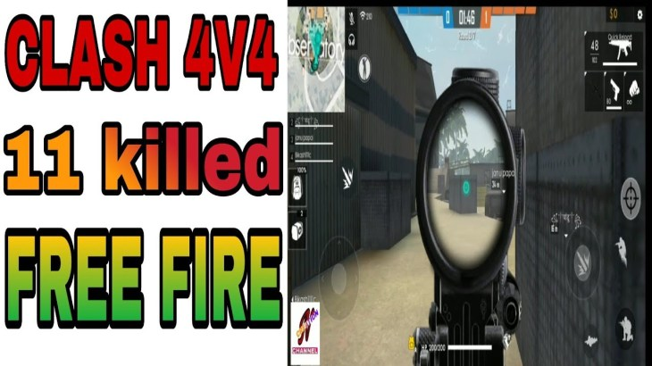 Clash-4v4.free-fire-game-play.11-killed
