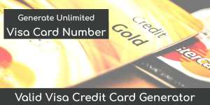 Credit Card Number Generator With CVV