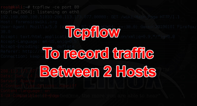 Tcpflow - To Monitor, Capture & Dump Packets - Kali Linux