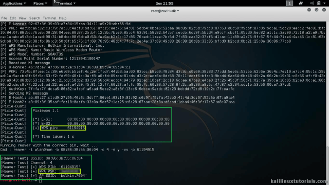 Reaver + PixieWPS - Tool to Bruteforce the WPS of a WiFi