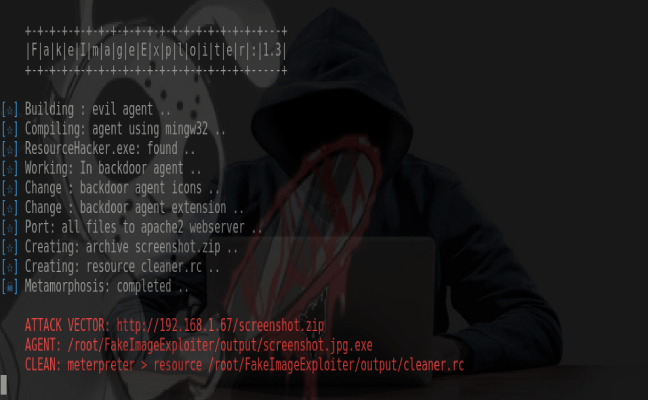 Use a Fake image jpg 'FakeImageExploiter' to Exploit Targets