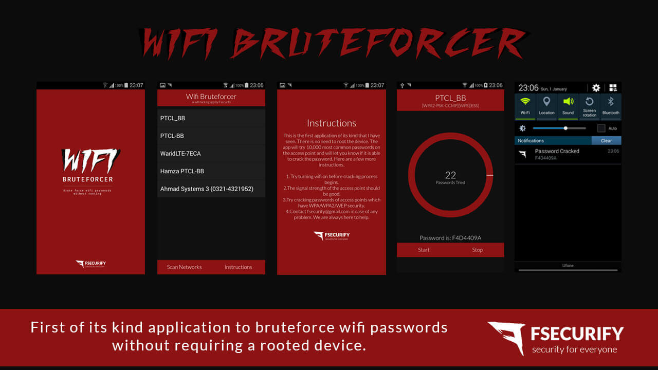 WiFi Bruteforcer - Android Application To Brute Force WiFi