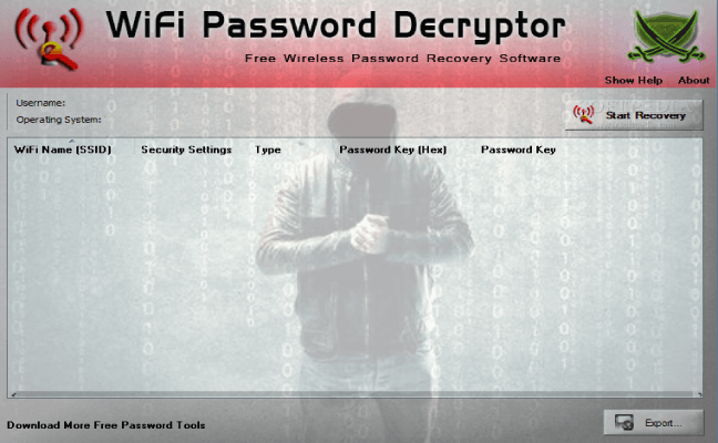 WiFi Password Decryptor Software To Recover Wireless Password