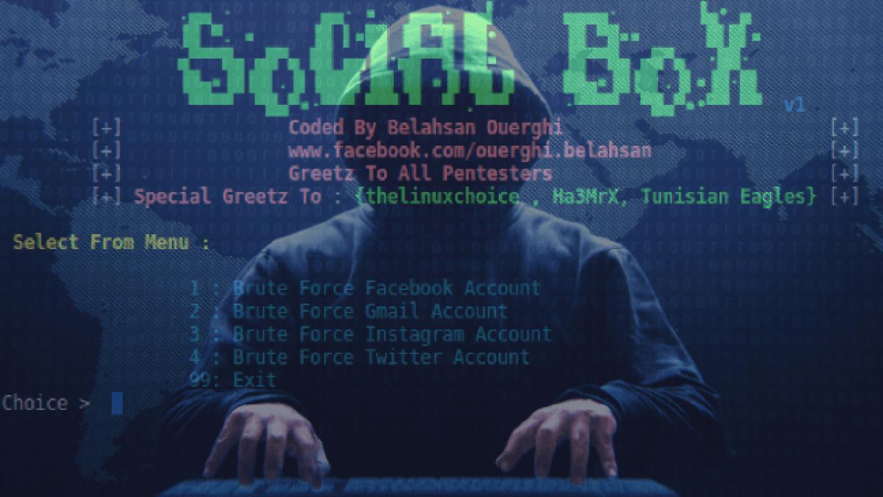 SocialBox - A Tool For Bruteforce Attack Framework