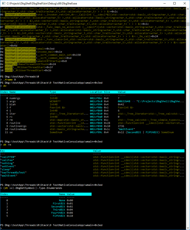 DbgShell - A PowerShell Front-End For The Windows Debugger