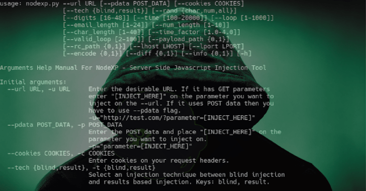 Nodexp - Tool to Detect & Exploiting Node js Vulnerabilities
