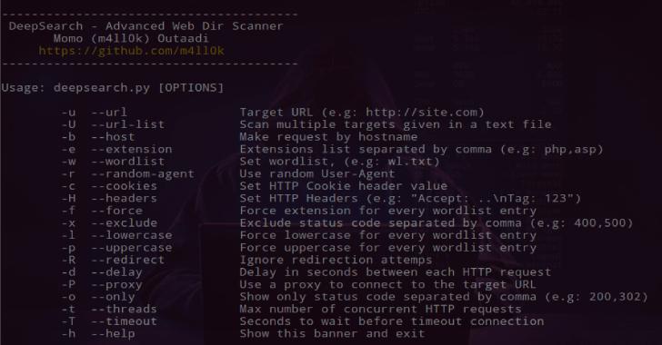 DeepSearch - Advanced Web Dir Scanner For Bruteforce