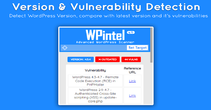 WPintel - Chrome Extension For WordPress Vulnerability Scanning
