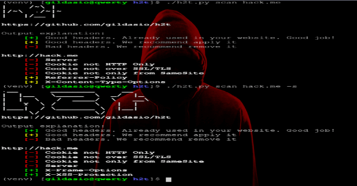 H2T : HTTP Hardening Tool Scans Website & Suggests Security Headers