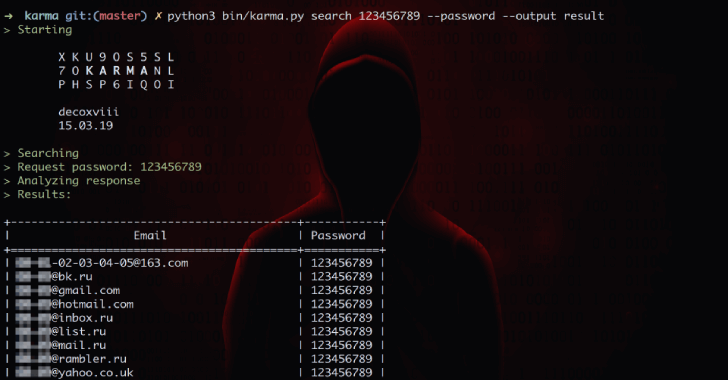 Karma : Find Leaked Emails with Your Passwords 2019
