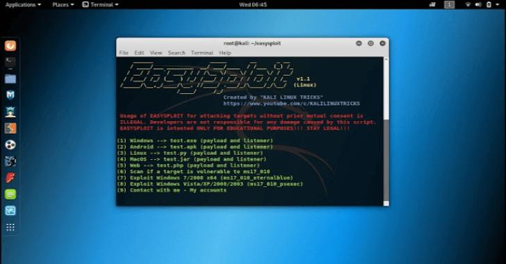 Easysploit : Metasploit Automation Easier & Faster Than Ever