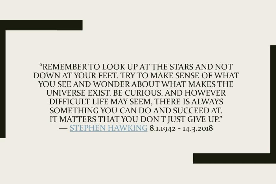 Θυμήσου να κοιτάς τα αστέρια