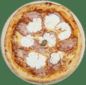 Pizza sa špekom i vrhnjem