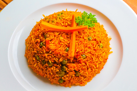 Spicy Pulao in microwave