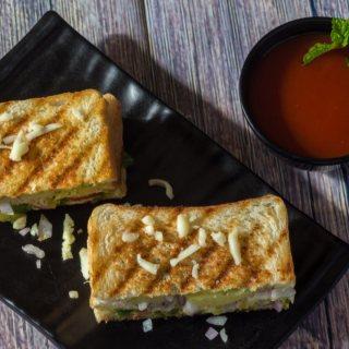 Bombay Veg Grilled Sandwich