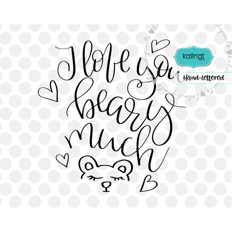 Download I love you beary much svg, valentine SVG