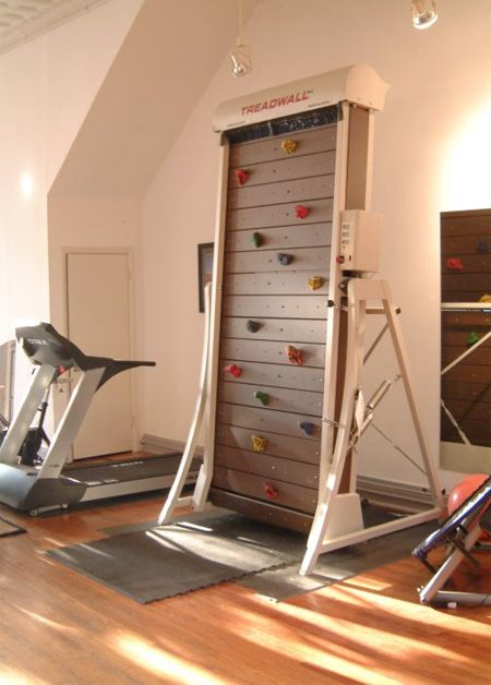 treadmill rock climbing wall