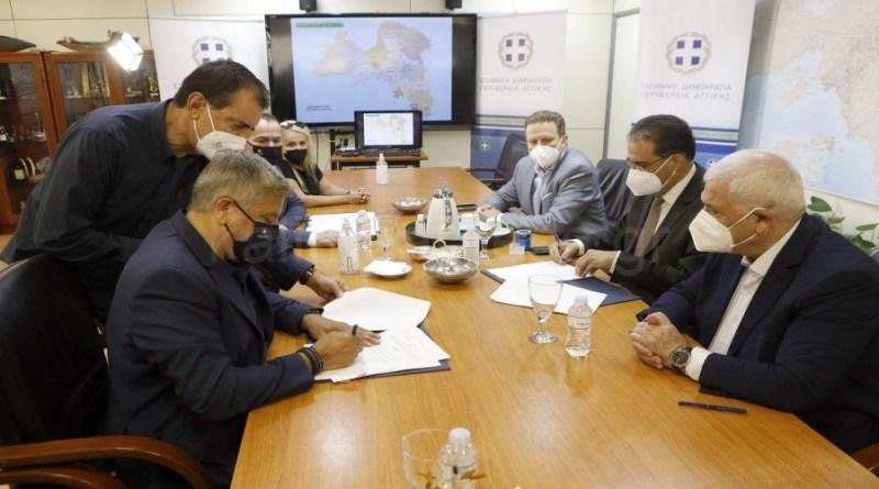 Υπεγράφη από τον Περιφερειάρχη Αττικής Γ. Πατούλη παρουσία του διοικητικού ηγέτη της ΑΕΚ Δ. Μελισσανίδη η προγραμματική σύμβαση προϋπολογισμού 14.274.193,50 ευρώ για την προμήθεια ηλεκτρομηχανολογικού εξοπλισμού για τη λειτουργία του γηπέδου