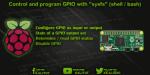 Control Raspberry Pi GPIO with sysfs