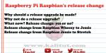 Raspbians release change