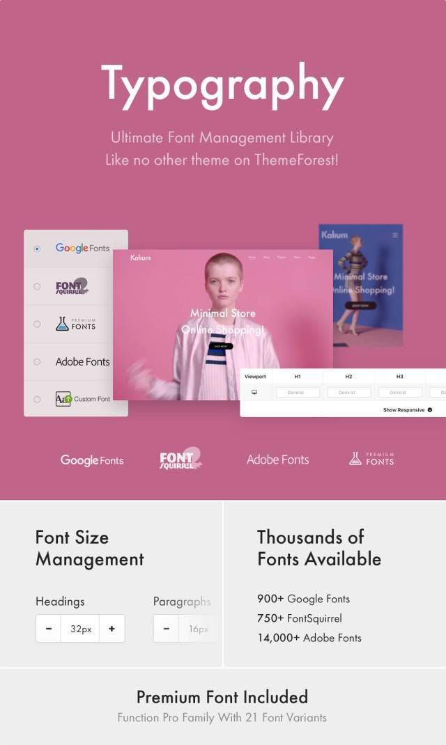 Ultimate Typography - Google Fonts, Font Squirrel, Adobe Fonts (TypeKit), Premium Fonts and Custom Fonts