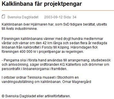 12 sept 2003 - Svenska Dagbladet