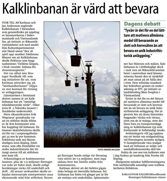 19 maj 2008 - Eskilstuna Kuriren